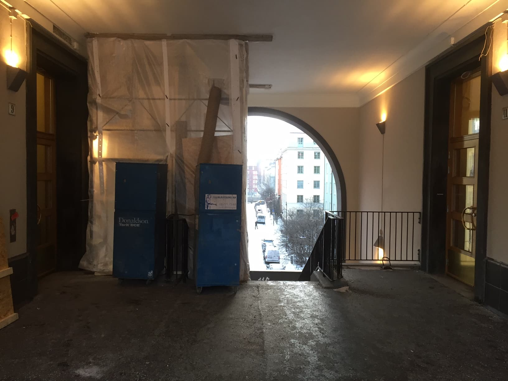 hiss sankt eriksplan vulcanusgatan allblästring blästring målning hisskonstruktion trafikkontoret 01