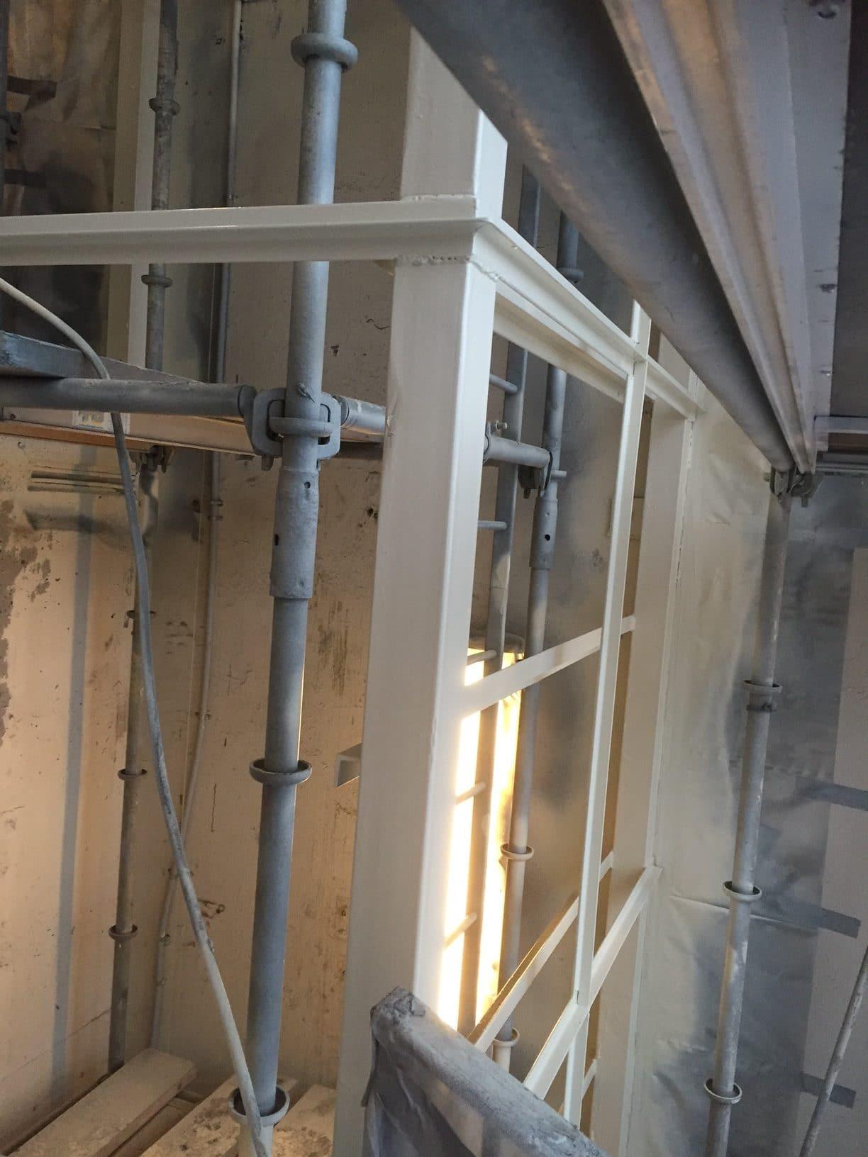 hiss sankt eriksplan vulcanusgatan allblästring blästring målning hisskonstruktion trafikkontoret 07