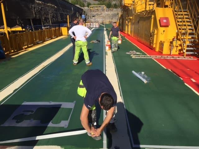 Allblästring Embla trafikverket färjor blästring målning 11