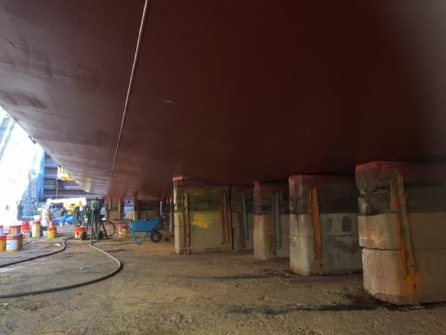 Allblästring Embla trafikverket färjor blästring målning 17