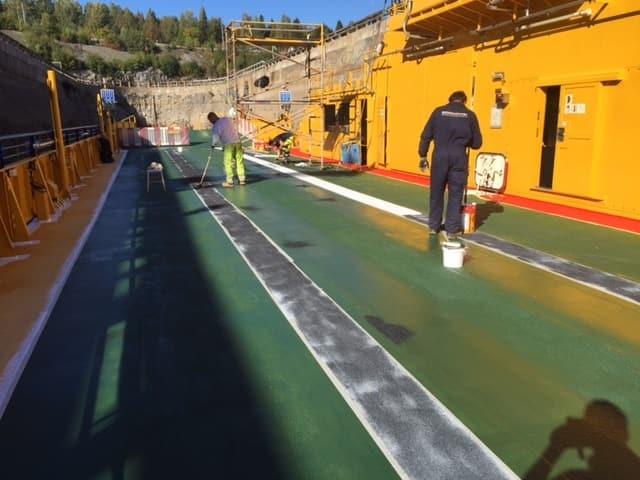 Allblästring Embla trafikverket färjor blästring målning 25