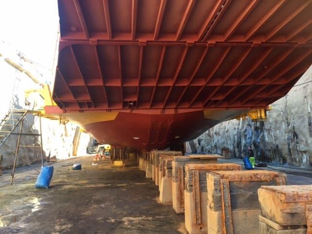 Allblästring Embla trafikverket färjor blästring målning 26