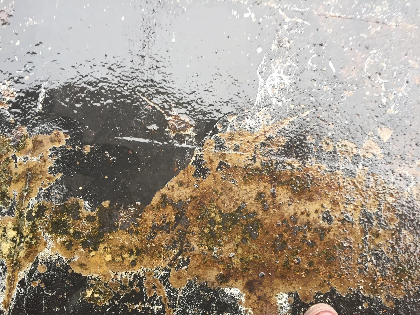 Allblästring vattenblästring ångfartyget blidösund 03