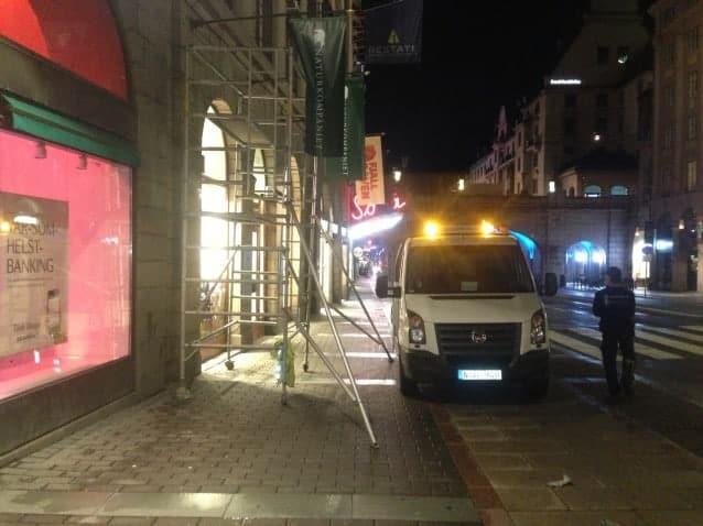 Isblästring Stockholm nattetid
