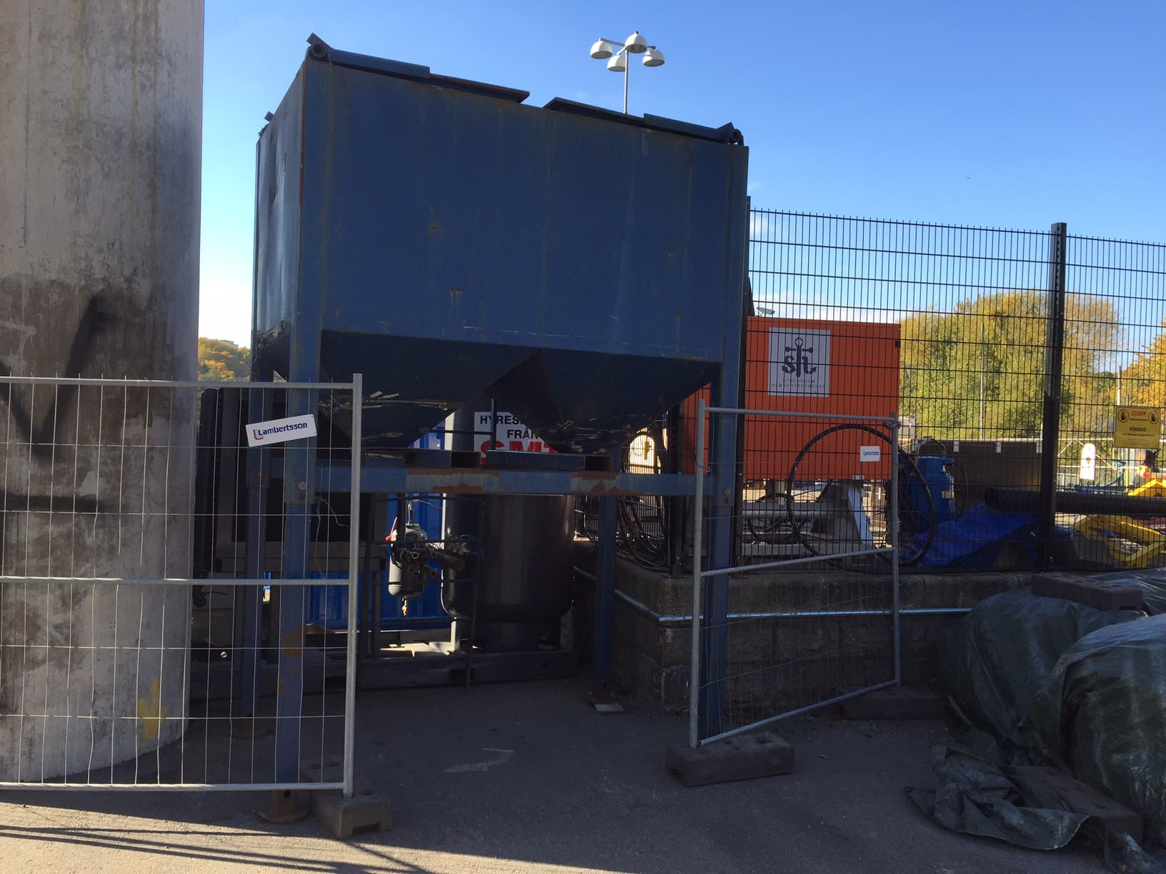Hammarby sluss hammarbyslussen stockholms hamnar stockholm hamnentreprenad stheab blästring rostskyddsmålning 06