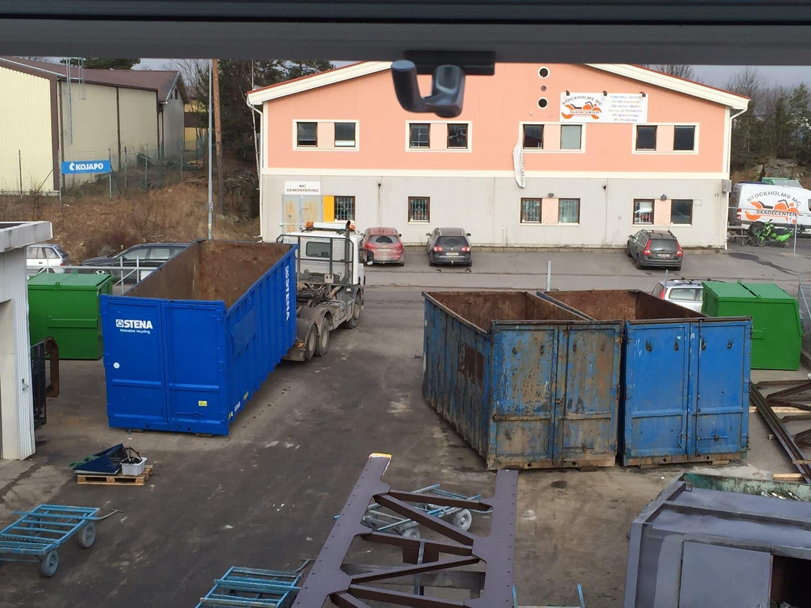 Verkstad allblästring blästring rostskyddsmålning containers flak stena