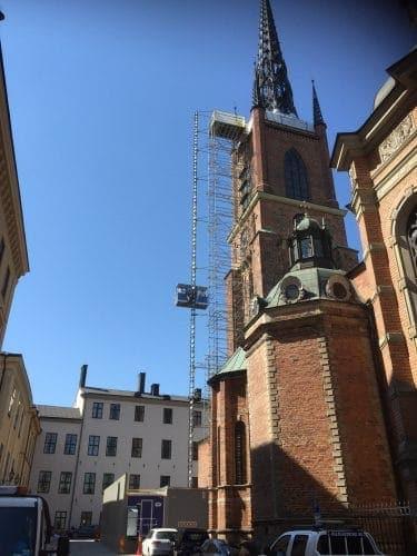 Spongeblästring av Riddarholmskyrkan