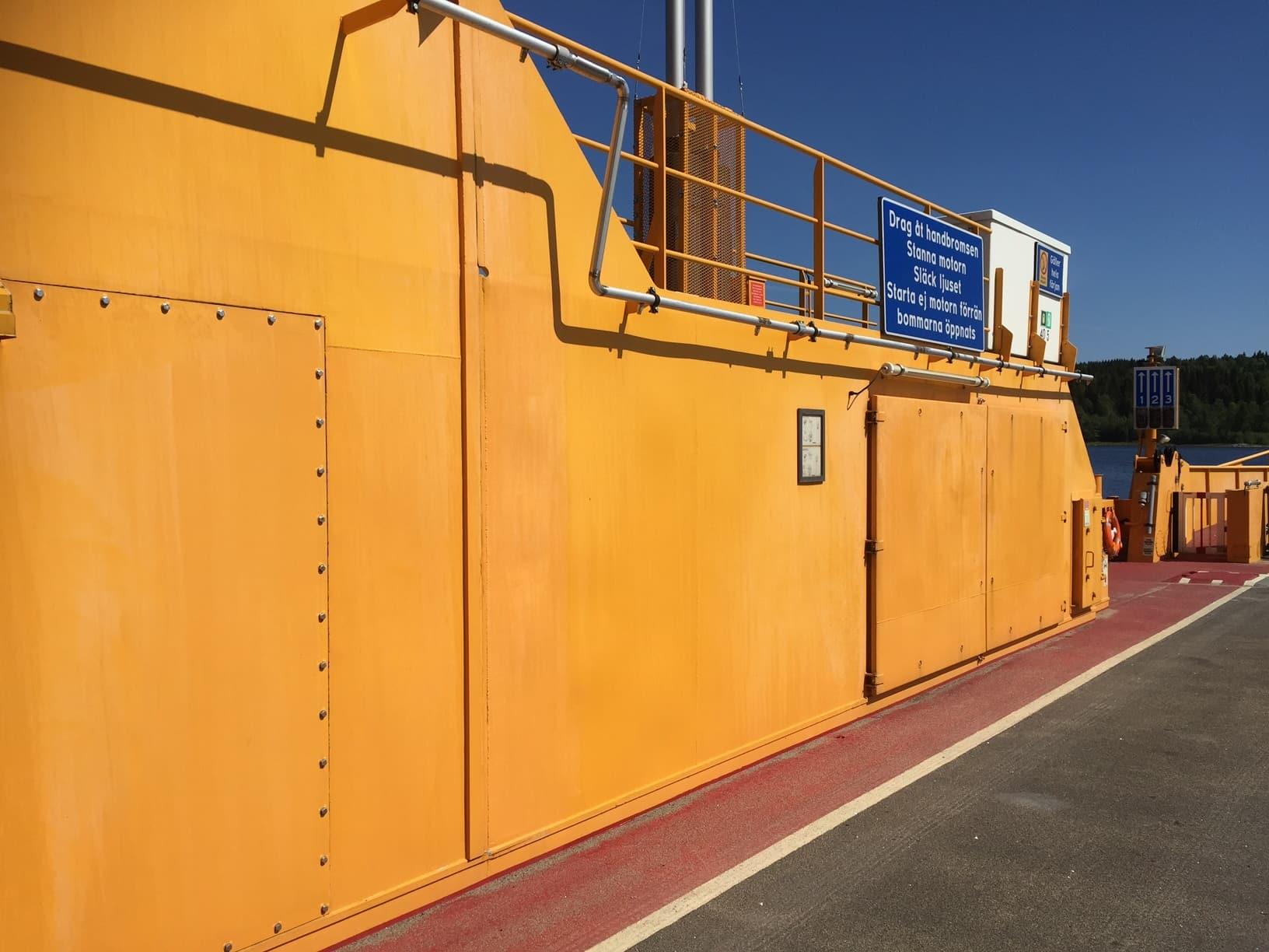 Allblästring Embla trafikverket färjor blästring målning 02
