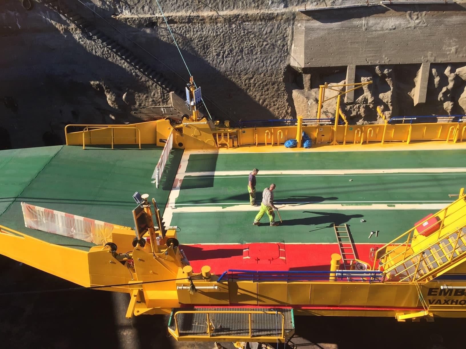 Allblästring Embla trafikverket färjor blästring målning 06