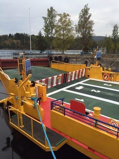 Allblästring Embla trafikverket färjor blästring målning 07