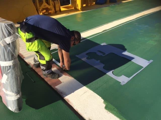 Allblästring Embla trafikverket färjor blästring målning 14