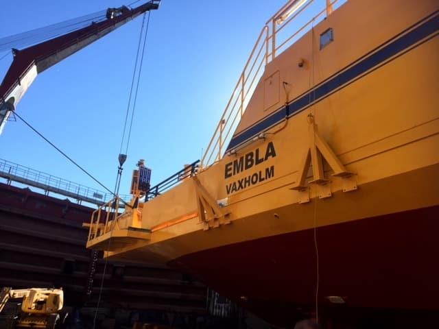 Allblästring Embla trafikverket färjor blästring målning 18