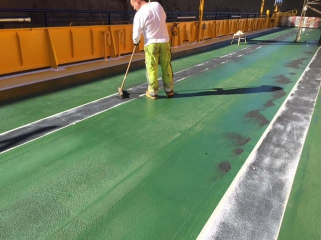 Allblästring Embla trafikverket färjor blästring målning 23