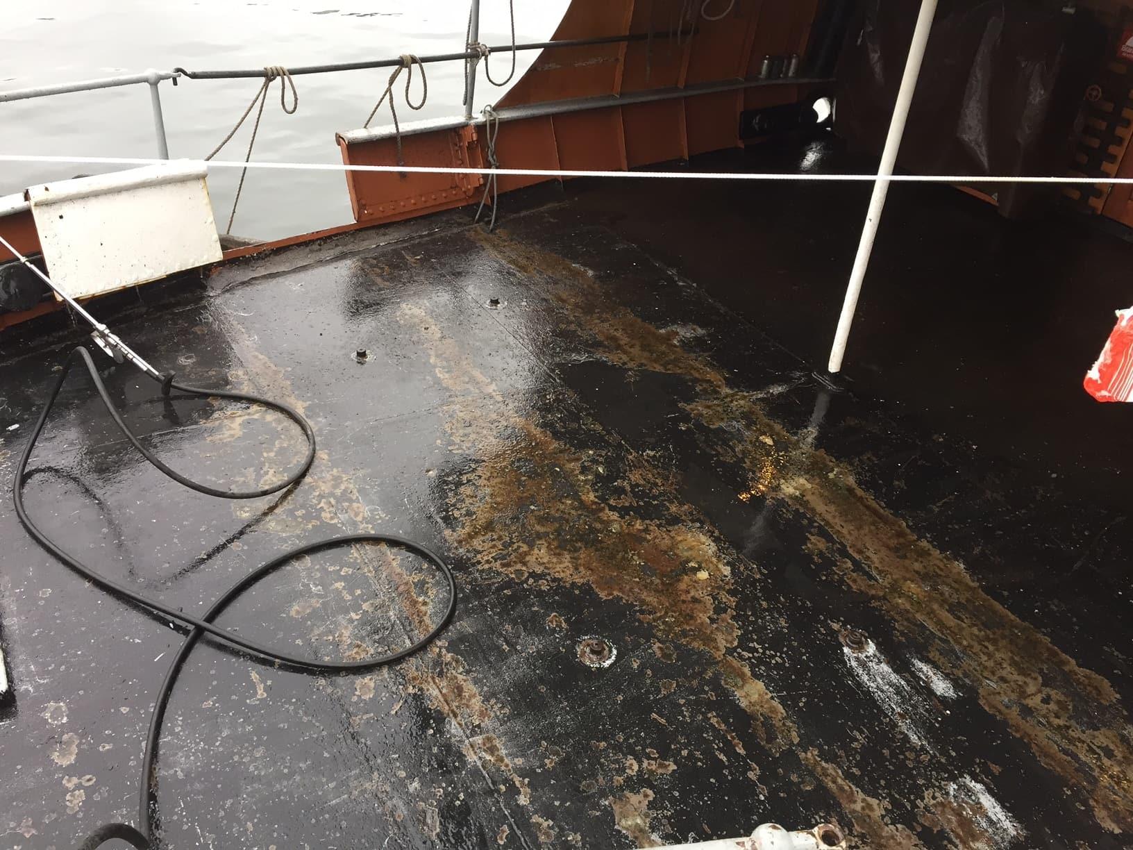 Allblästring vattenblästring ångfartyget blidösund 02