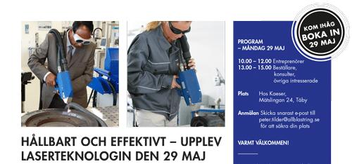Hållbart och effektivt – Upplev laserteknologin 29 maj