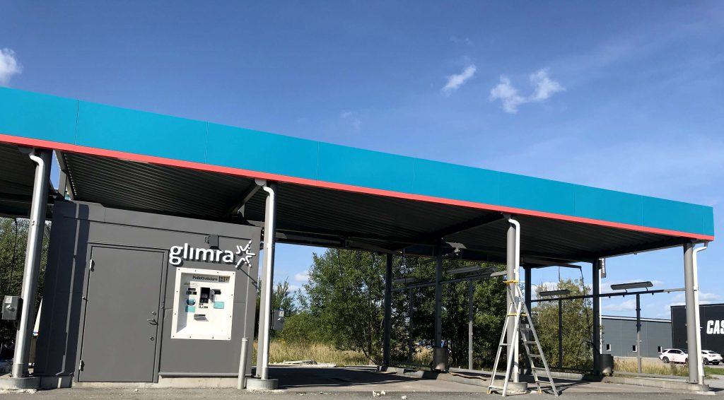 Allblästring utför ytskyddsbehandling på Glimras biltvättar.